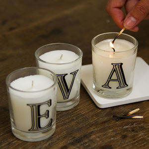 Hand Poured Alphabet Scented Candle - candles & home fragrance