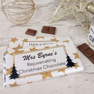 Christmas Teacher Rejuvenating Chocolate Bar - chocolates