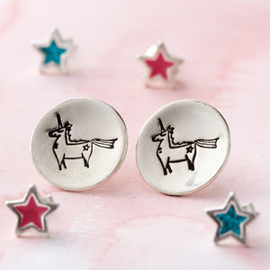 Unicorn Stud Earrings - earrings