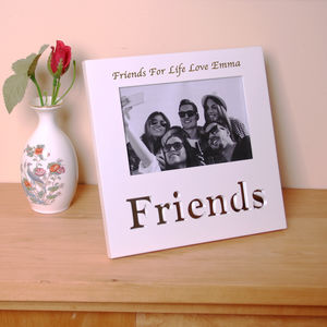 Personalised Friends Photo Frame White - home accessories