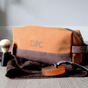 Personalised Two Tone Men's Wash Bag