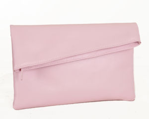 Pink Envelope Clutch - womens