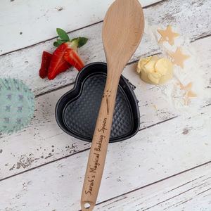 Personalised Magical Wooden Spoon - baking