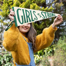 'Girls Are Strong' Pennant Flag