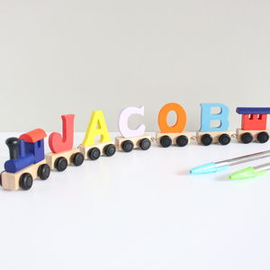 Coloured Personalised Name Train Items