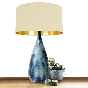 Tall Bespoke Ceramic Table Lamp Base - lamp bases & shades