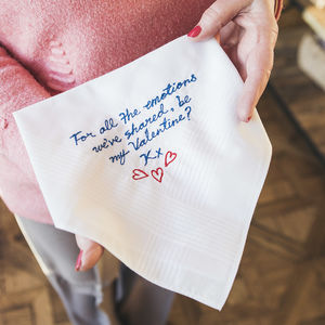 Valentine's And Sweet Nothings Hanky - handkerchiefs
