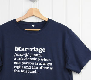 Marriage Definition T Shirt - Mens T-shirts & vests