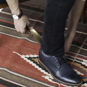 Gentlemen's 'Talk The Talk' Brass Shoe Horn - shoes
