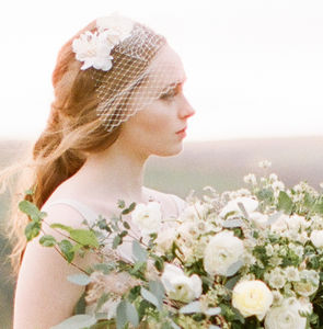 Limited Edition Short Floral Birdcage Wedding Veil - bridal hairpieces