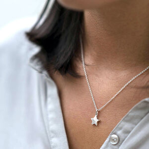 Solid Silver Star Necklace