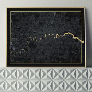 Limited Edition London Screen Print In Black And Gold - original gifts for him