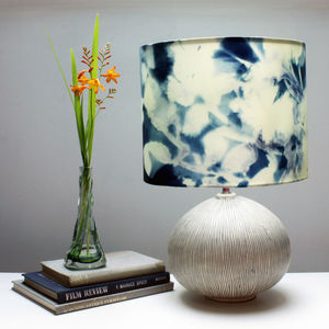 Floral Cyanotype Botanical Print Lampshade