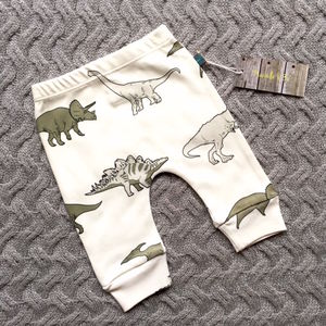 Dinosaur Print Organic Baby Leggings - for babies