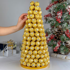 Ferrero Rocher Tower Chocolate Centre Piece - festive food & drink