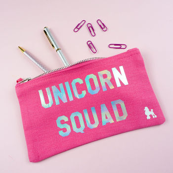 'Unicorn Squad' Pencil Case