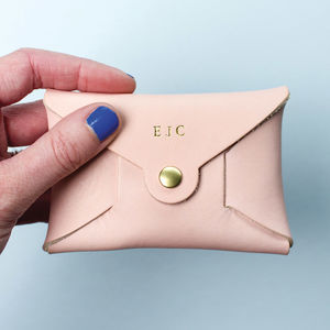 Personalised Coloured Leather Coin Purse - best valentine's gifts for her
