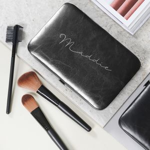 Personalised Ladies Make Up Brush Set Black