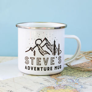 Personalised Adventure Enamel Mug - camping mugs
