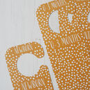 Baby's Wardrobe Clothing Dividers | Mustard Yellow