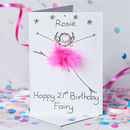 Handmade Personalised Happy Birthday Fairy Card