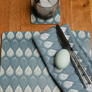 Isabella Blue Set Of Four Placemats