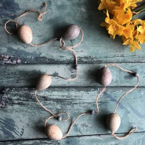 Muted Speckled Egg Garland