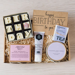 'The Birthday Box' Letterbox Gift Set - novelty chocolates