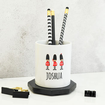 Personalised Soldier Pen Pot