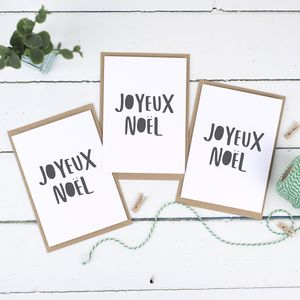 Joyeux Noel Christmas Card Pack