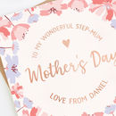Step Mum Mother's Day Card Rose Gold Foil