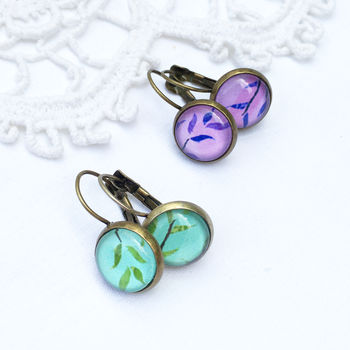 Vintage Style Leaf Earrings