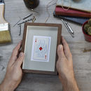 A Diamond In The Rough Vintage Playing Card Print