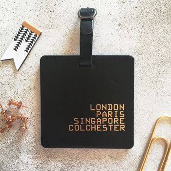 Personalised Places Luggage Tag