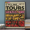 Cycling Grand Tour Tour De France Poster