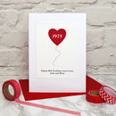 Ruby Wedding Anniversary Card, personalised with your own names and date