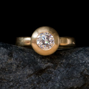 Diamond Engagement Gold Ring - engagement rings