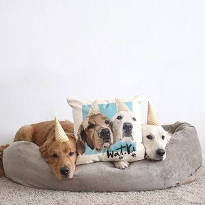 Personalised Custom Pet Canvas Cushion Cover - pet-lover