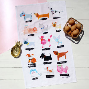 Dog Breeds Tea Towel - kitchen accessories