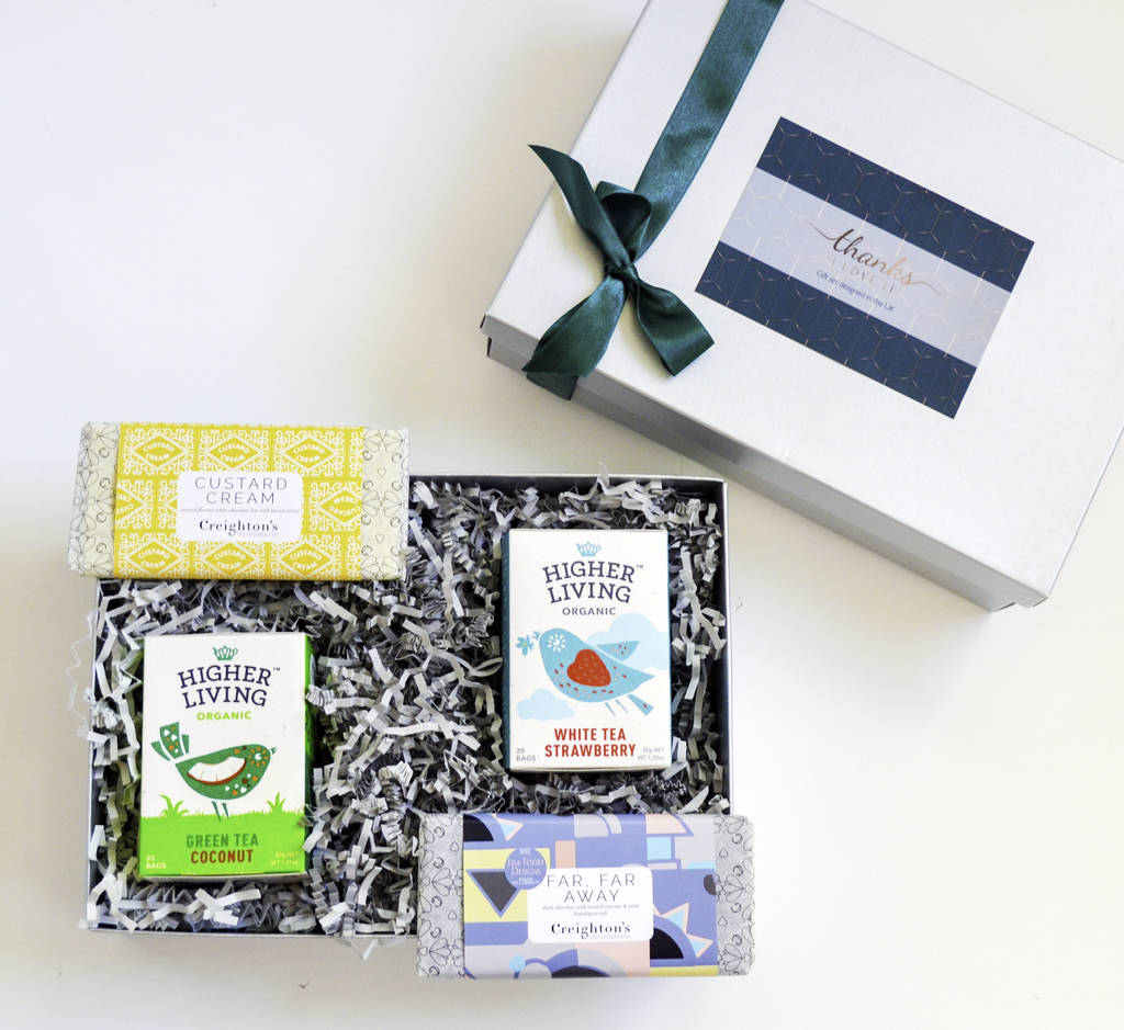 The Unwind Gift, Organic Tea And Handmade Chocolate