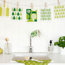 Set Of Green Dishcloths