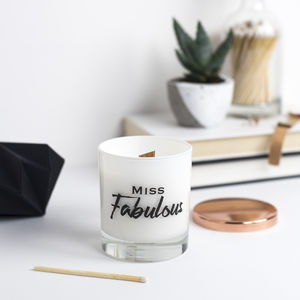 'Mr, Miss Or Mrs Fabulous' Soy Wax Candle