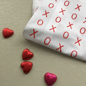 Hugs And Kisses Hankie - gifts for him