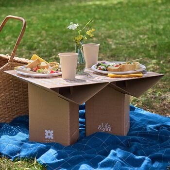 Sustainable Cardboard Table For Two In A Box