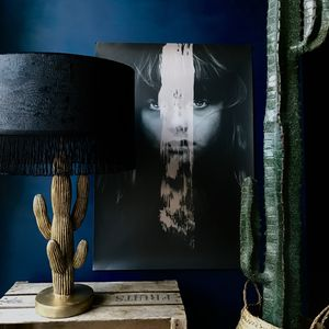 Black Crocodile Skin Velvet Lampshade With Black Lining