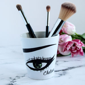 Personalised Make Up Brush Pot - gifts for her