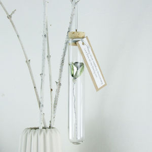 Silver Anniversary Rose Hanging Decoration - decorative accessories