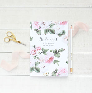 English Garden Bridesmaid Wedding Notebook Planner - new in wedding styling