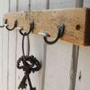 Reclaimed Wood Mini Bowler Hat And Coat Hook