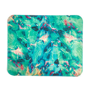 'Turquoise Marble' Printed Leather Mouse Mat